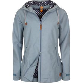 Elkline Singingintherain Rain Jacket Women blue-denim